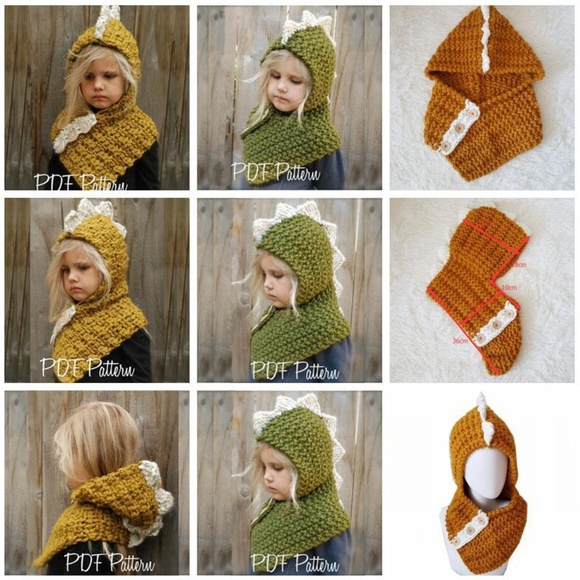 5bc5c3418 Accessories | Dinosaur Knit Scarf And Hat Combined | Poshmark